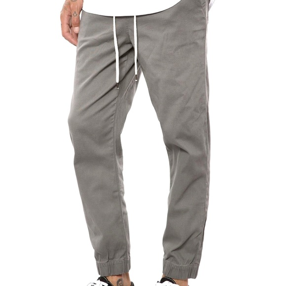 Elwood Mens Cropped Cuffed Twill Pleated Pants